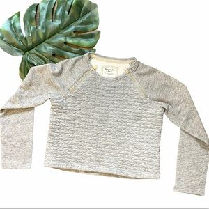 Abercrombie&Fitch Pullover Quilted Sweater S 1717